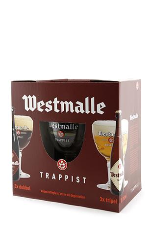 Coffret Westmalle 6x33cl + 1 verre