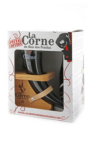 Coffret Corne du bois des pendus black 2x0.33 + 1 verre