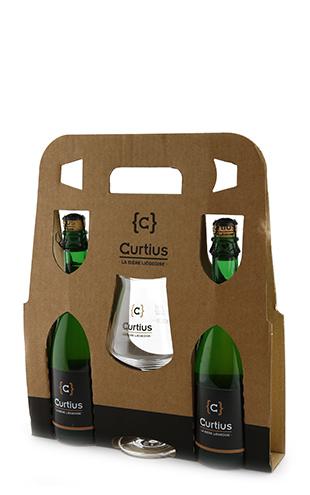 Coffret Curtius 2x0.375 + 1 verre