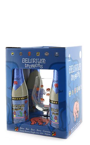 Coffret Delirium 4x0.33 + 1 verre