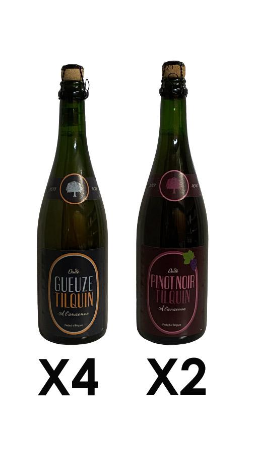 Mix Tilquin - 2 pinot noir et 4 oude gueuze tilquin 75cl